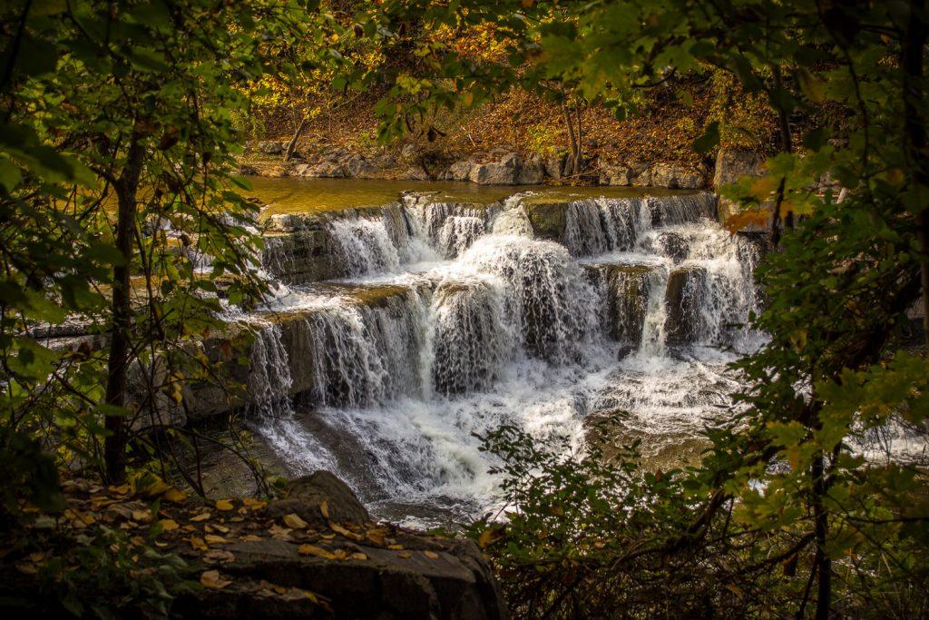 Lower Taughannock Falls Framed in greenery