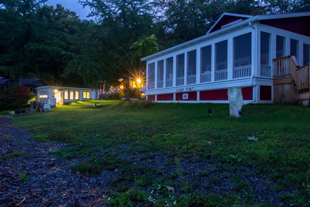 Nighttime view of Artists Studio at Sunny Point