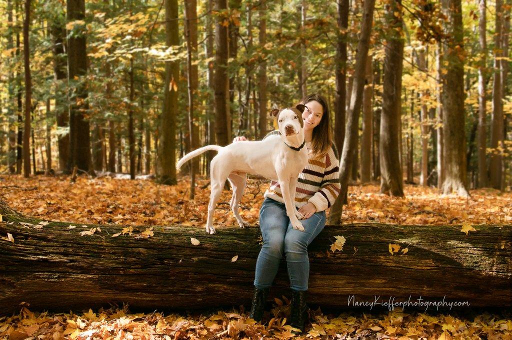Louie & Mom ( dog & human)
