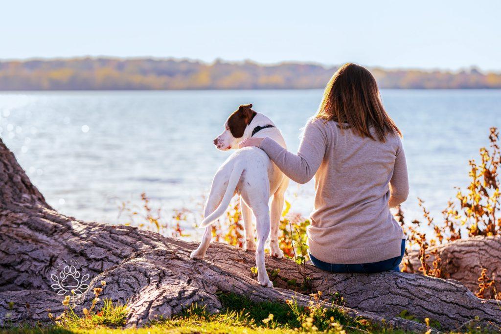 enjoying the lake together