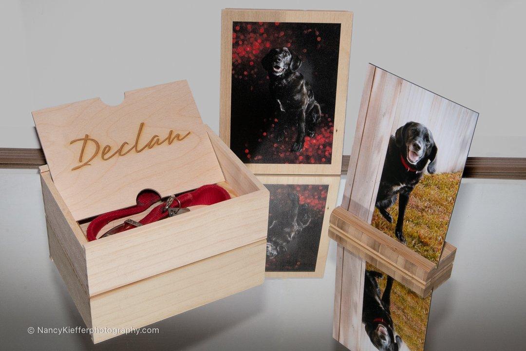 wooden box for photos